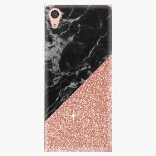 Plastový kryt iSaprio - Rose and Black - Sony Xperia XA1