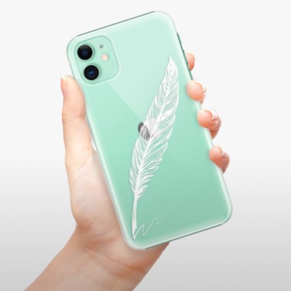 Plastové pouzdro iSaprio - Writing By Feather - white - iPhone 11