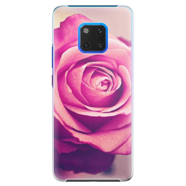 Plastové pouzdro iSaprio - Pink Rose - Huawei Mate 20 Pro