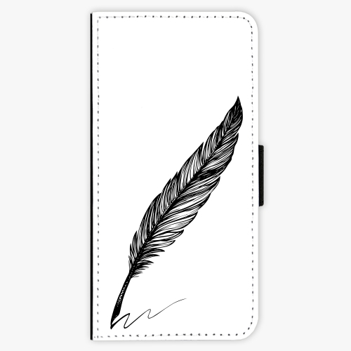 Flipové pouzdro iSaprio - Writing By Feather - black - Samsung Galaxy A3 2017