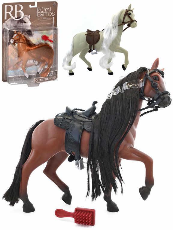 Kůň česací 18cm set s hřebenem Royal Breeds různé druhy plast