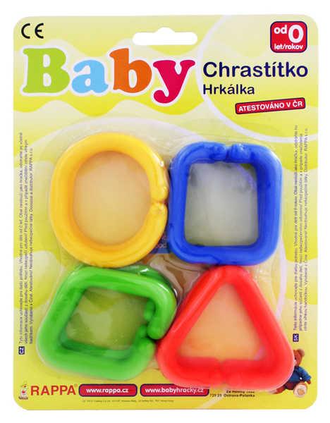 Tvary spojovací plastové set 12 částí řetěz na kartě baby