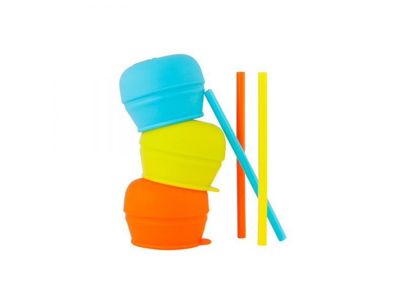 Boon - SNUG - Náhradní silikonová víčka a brčka 6 ks
