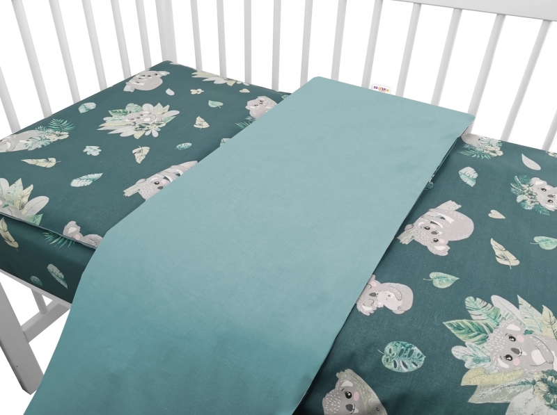 baby-nellys-2-dilne-bavlnene-povleceni-tropical-koala-zelena-135-x-100-135x100