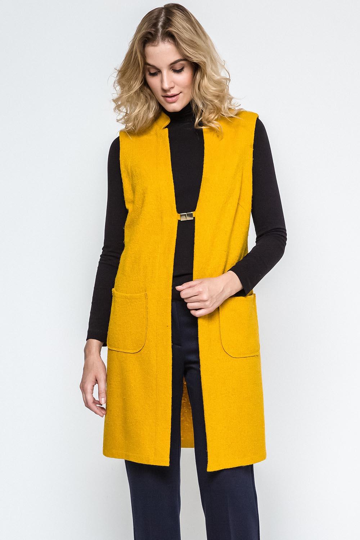 Dámská vesta Ennywear 240035 - Žlutá/hořčicová/34