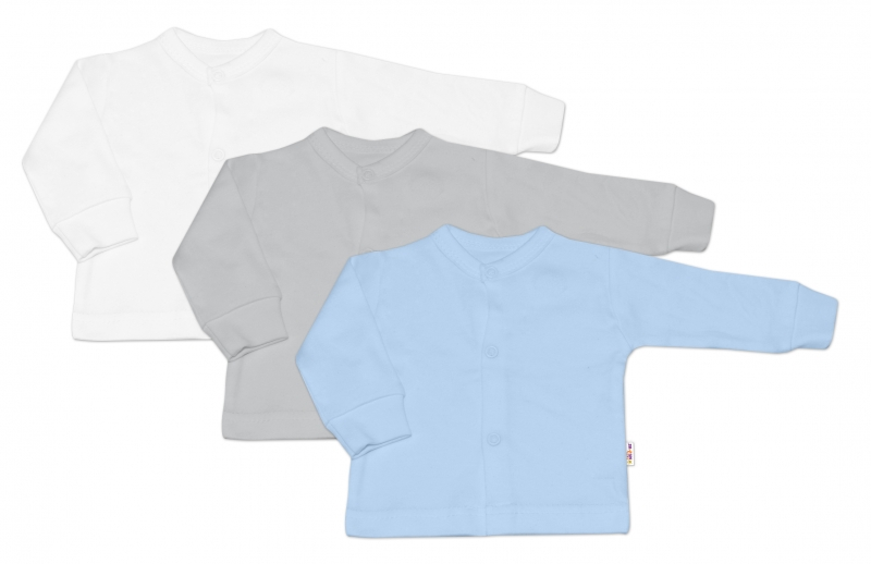 Baby Nellys Kojenecká chlapecká sada košilka,kabátek BASIC - 3 ks, vel. 68 - 68 (4-6m)