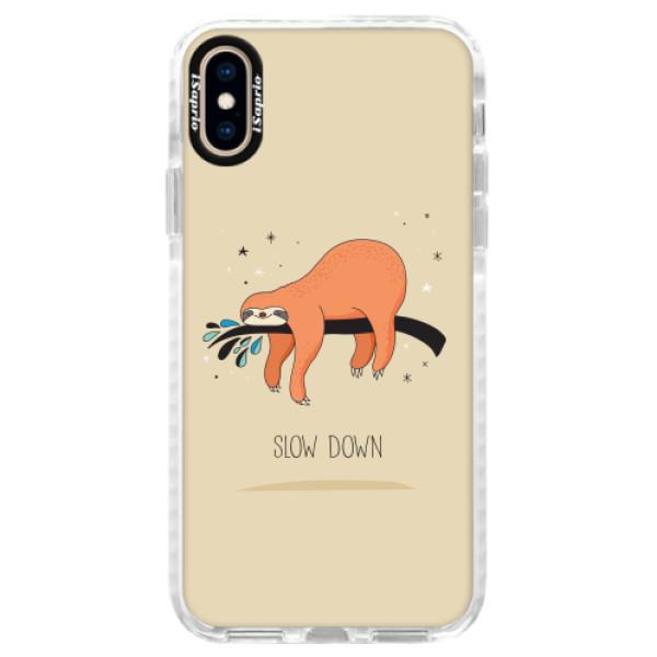 Silikonové pouzdro Bumper iSaprio - Slow Down - iPhone XS