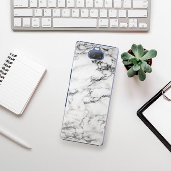 Plastové pouzdro iSaprio - White Marble 01 - Sony Xperia 10 Plus