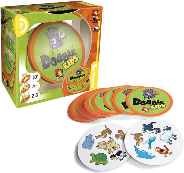 ASMODEE Hra postřehová Dobble KIDS v plechové krabičce *SPOLEČENSKÉ HRY*