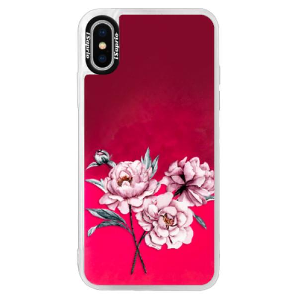 Neonové pouzdro Pink iSaprio - Poeny - iPhone X