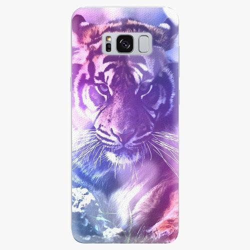 Plastový kryt iSaprio - Purple Tiger - Samsung Galaxy S8 Plus
