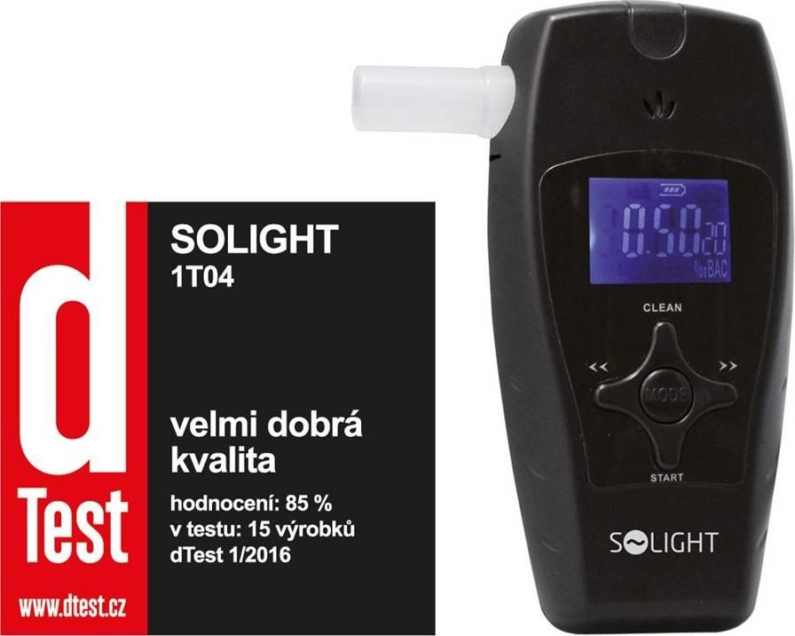 1T04 Solight alkohol tester profi, 0,0 - 3,0‰ BAC, citlivost 0,1‰, barevný displej, automa