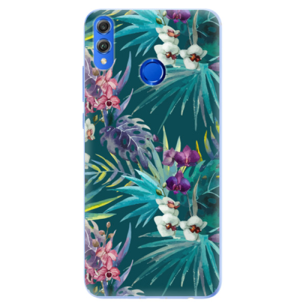 Silikonové pouzdro iSaprio - Tropical Blue 01 - Huawei Honor 8X