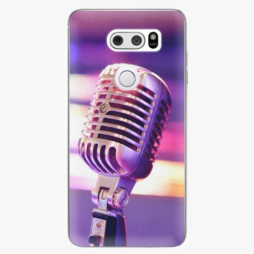 Plastový kryt iSaprio - Vintage Microphone - LG V30