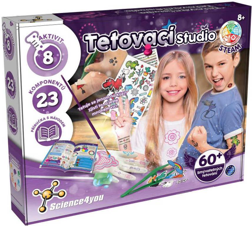 Science 4 You Tetovací studio kreativní dětský set v krabici