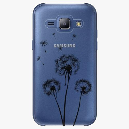 Plastový kryt iSaprio - Three Dandelions - black - Samsung Galaxy J1