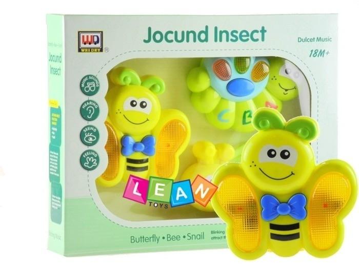 Interaktivní hudební sada hraček - Včelka, housenka a motýlek