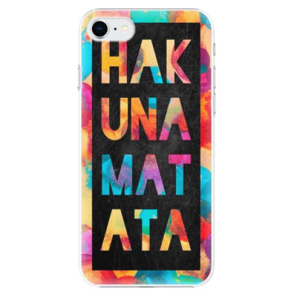 Plastové pouzdro iSaprio - Hakuna Matata 01 - iPhone SE 2020