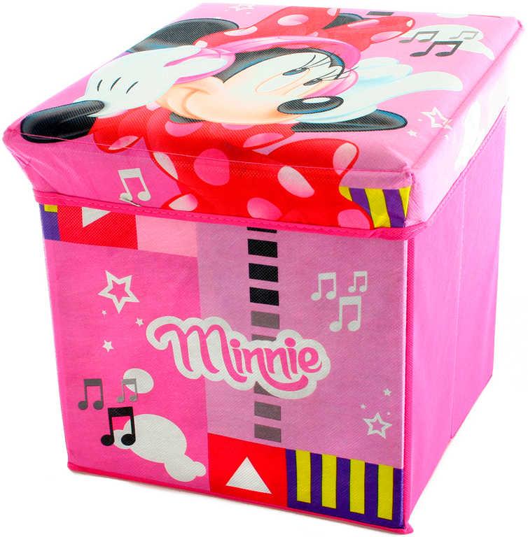 Box úložný Minnie Mouse 32x32x32cm krabice na hračky