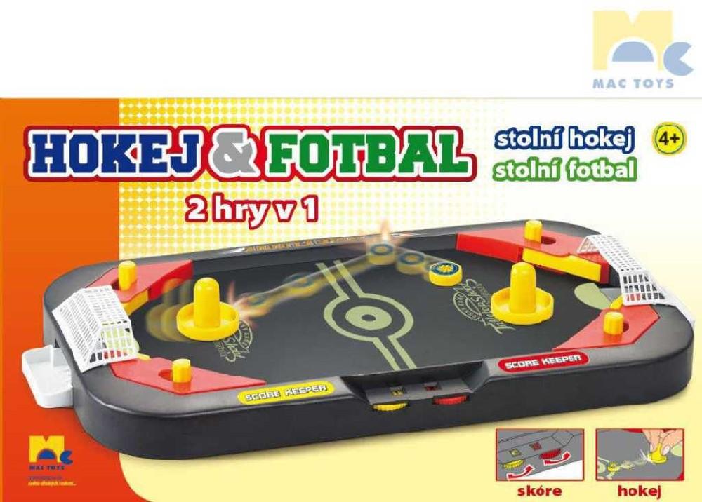 MAC TOYS Hra Hokej a fotbal stolní kopaná 2v1 *SPOLEČENSKÉ HRY*