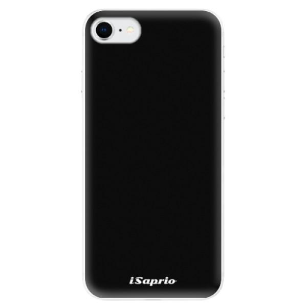 Odolné silikonové pouzdro iSaprio - 4Pure - černý - iPhone SE 2020