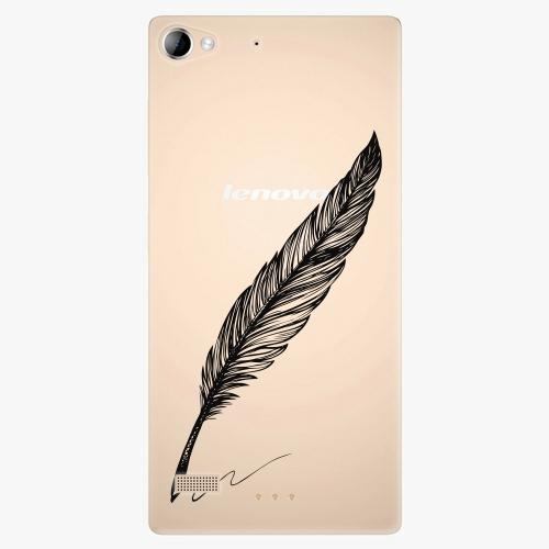 Plastový kryt iSaprio - Writing By Feather - black - Lenovo Vibe X2