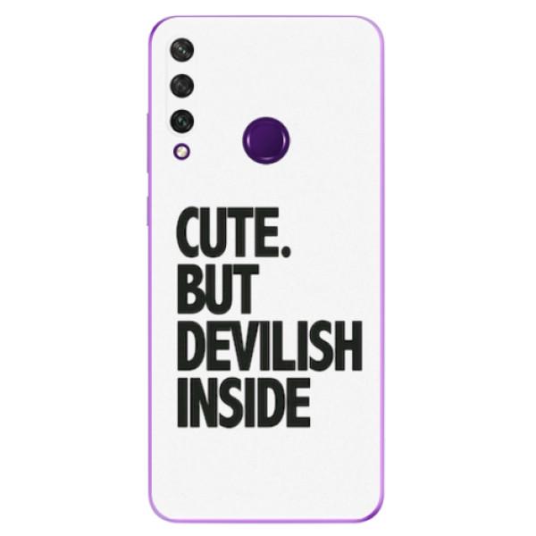 Odolné silikonové pouzdro iSaprio - Devilish inside - Huawei Y6p