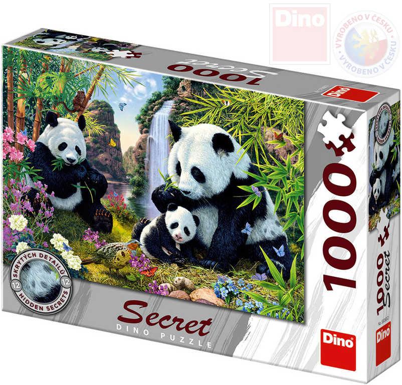 DINO Puzzle 1000 dílků Pandy skrytá tajemství 66x47cm skládačka v krabici