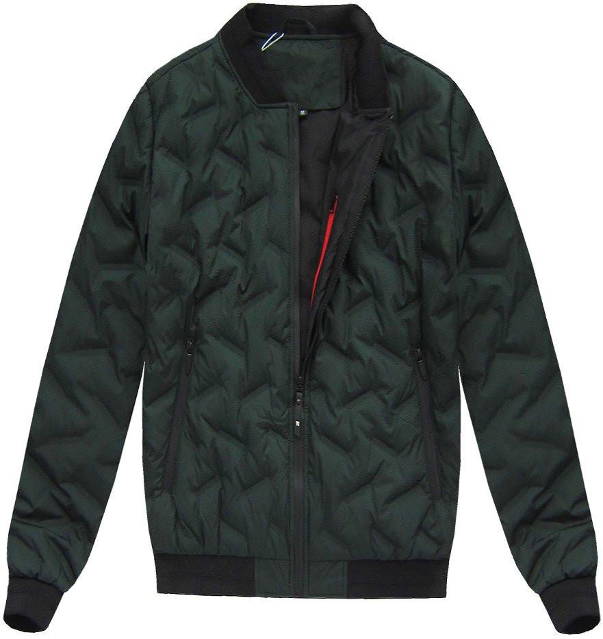 Khaki pánská bunda s přírodní vycpávkou (X5025X) - Khaki/M