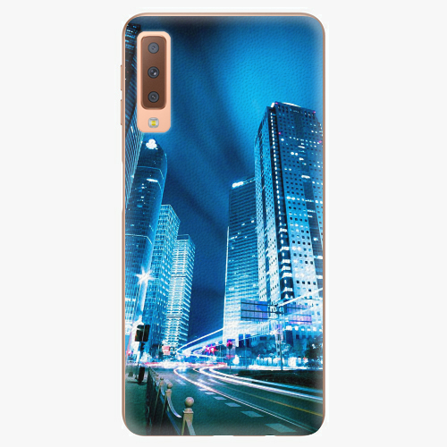Plastový kryt iSaprio - Night City Blue - Samsung Galaxy A7 (2018)