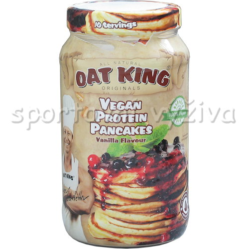 Oat king vegan protein pancakes 500g-vanilla-flavor
