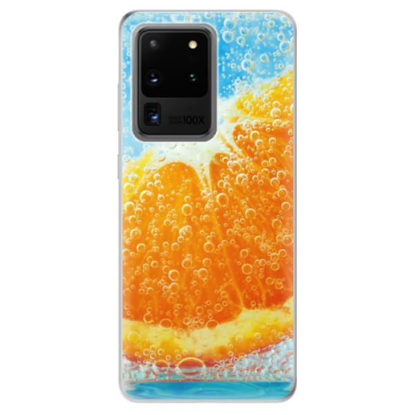 Odolné silikonové pouzdro iSaprio - Orange Water - Samsung Galaxy S20 Ultra