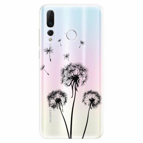 Silikonové pouzdro iSaprio - Three Dandelions - black - Huawei Nova 4