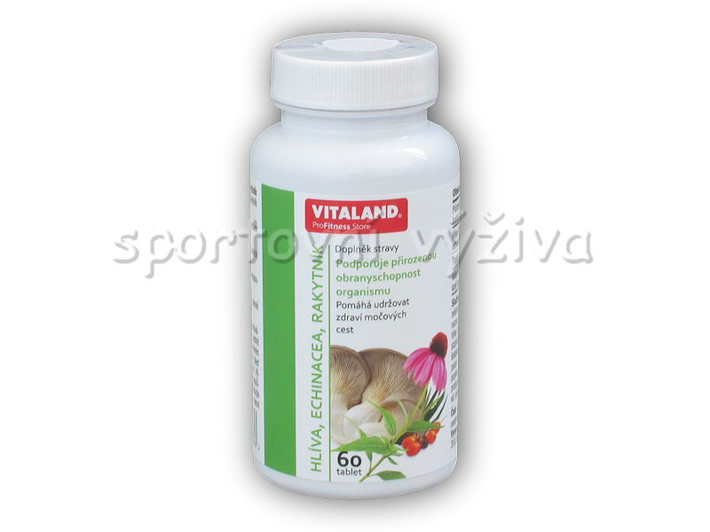 Vitaland Hlíva+ Echinacea+ Rakytník 60 kapslí