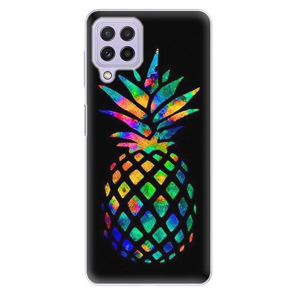 Odolné silikonové pouzdro iSaprio - Rainbow Pineapple - Samsung Galaxy A22