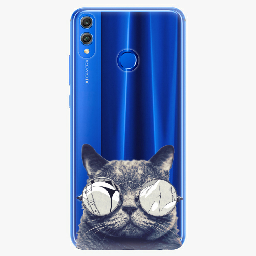 Silikonové pouzdro iSaprio - Crazy Cat 01 - Huawei Honor 8X