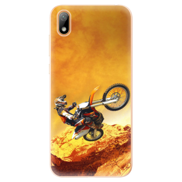 Odolné silikonové pouzdro iSaprio - Motocross - Huawei Y5 2019