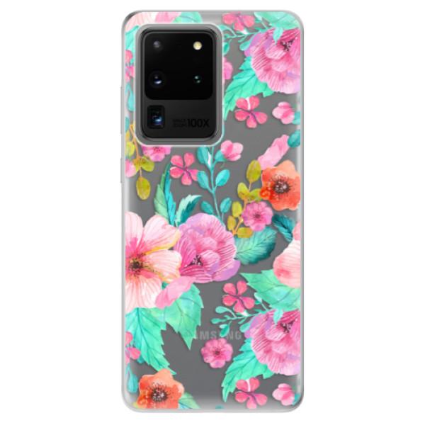 Odolné silikonové pouzdro iSaprio - Flower Pattern 01 - Samsung Galaxy S20 Ultra