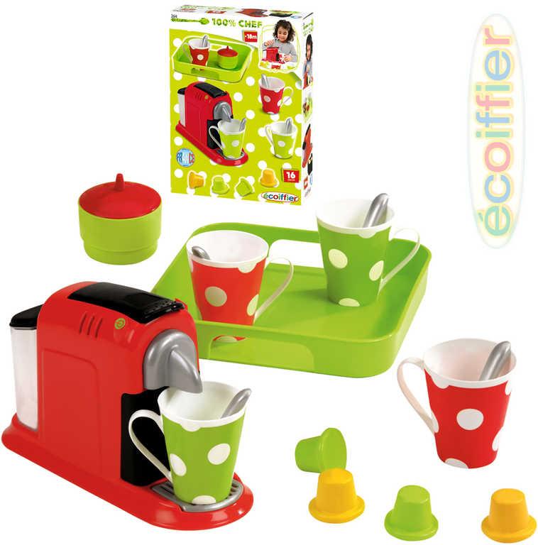 ECOIFFIER Dětský presovač na kávu set s hrníčky a doplňky plast