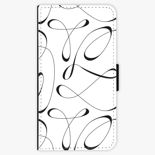 Flipové pouzdro iSaprio - Fancy - black - Samsung Galaxy A3