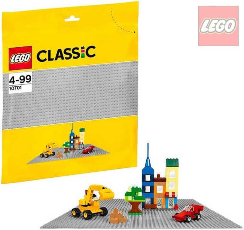LEGO CLASSIC Podložka šedá ke stavebnicím 10701 32x32cm