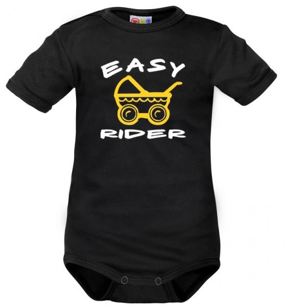 body-kratky-rukav-dejna-easy-rider-cerne-vel-74-74-6-9m