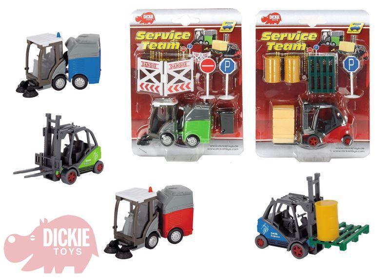 DICKIE Auta servisní team (vysokozdvižný vozík nebo čistící vůz)