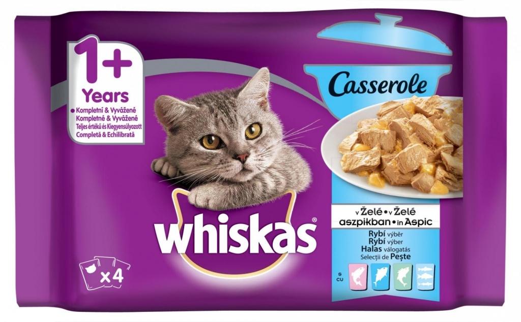 Casserole rybí výběr v želé kapsička pro kočky 4x85 g