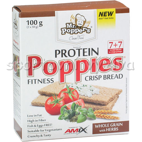 CrispBread Protein Whole Grain Heerbs 100g