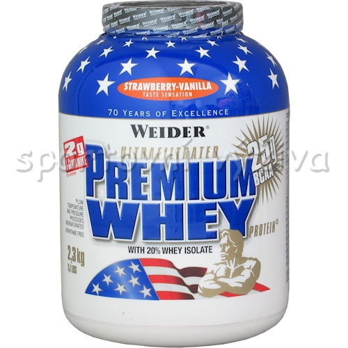 Premium Whey Protein - 2300g-strawberry-vanilla