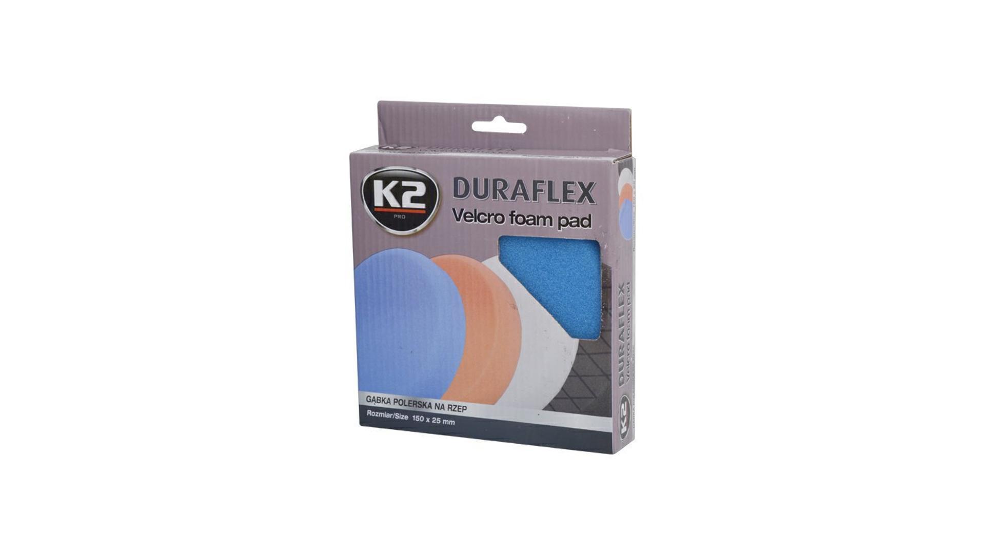 K2 Duraflex náhradní leštící houba 150x25mm MODRÁ
