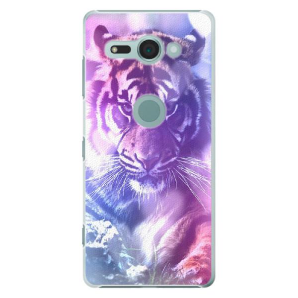 Plastové pouzdro iSaprio - Purple Tiger - Sony Xperia XZ2 Compact