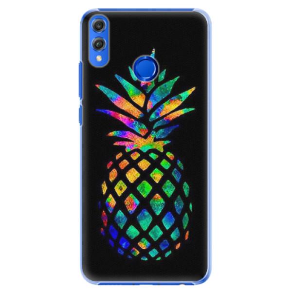 Plastové pouzdro iSaprio - Rainbow Pineapple - Huawei Honor 8X