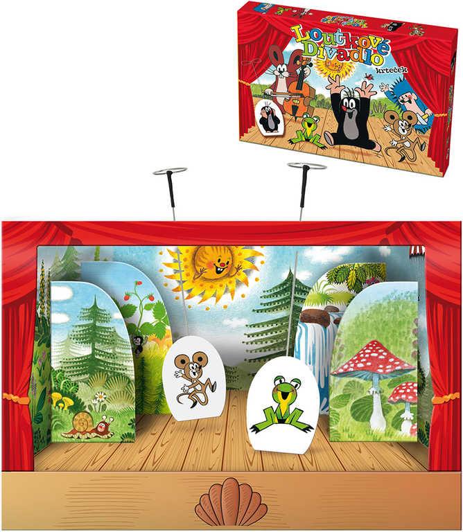 Divadlo loutkové papírové Krtek (Krteček) 6 postaviček s kulisami